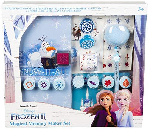 Disney Frozen Schreibwaren, Die Eiskonigin Schreibset Mit ELSA Und Anna, Enthält Notizbuch Frozen Stickers Fluffy Stifte Und Stempel, Bastelset Für Kinder, Geschenke Für Mädchen Jungen 3+ Jahren