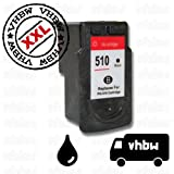 vhbw Ersatz Tintenpatrone Druckerpatrone schwarz für Canon Pixma ip2700, ip2702, MP240, MP250, MP252, MP260, MP270, MP272, MP280 wie PG-510, PG-510XL