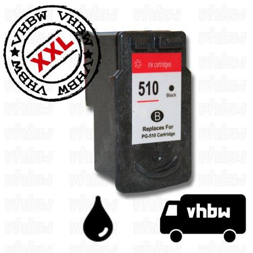 vhbw Druckerpatrone Tintenpatrone schwarz für Canon Pixma ip2700, ip2702, MP240, MP250, MP252, MP260, MP270, MP272, MP280 wie PG-510, PG-510XL.