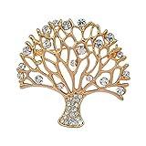Brosche Gold Vintage Damen Deko Mode Diamant kleiner Baum Anhänger Broschen Schmuck Bekleidung Schal Zubehör Clip Nadeln Taschen Accessoires Hochzeit Geburtstags Liebhaber Geschenk Für Frauen