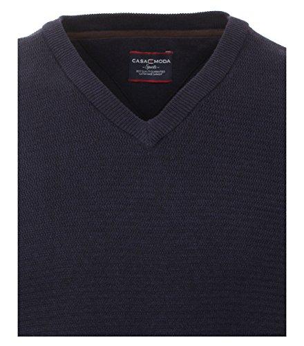 Casa Moda - Unifarbener Herren Pullover mit V-Ausschnitt (472625000) Grün (307)