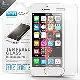 Yousave Accessories iPhone 5S / 5 / SE Pellicola Protettiva Trasparente In Vetro Temperato [Ultra Sottile 0,3 mm/ Indice Di Resistenza 9H]