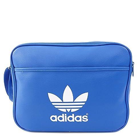 adidas Airliner Classic Shoulder Bag blue Bluebird/White Size:38 x 12 x 28 cm, 13 Liter