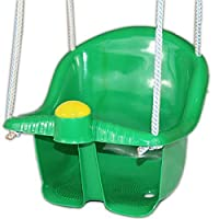 GREEN BABY KIDS GARDEN PLAY SWING SEAT BUCKET OUTDOOR ROPE CHILDRENS TODDLER PLASTIC by Guaranteed4Less