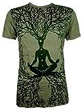 Sure Herren T-Shirt Wicca Art Guru Magie Psychedelic Yoga Goa Trance Hippie Yogi (Olive Grün M)