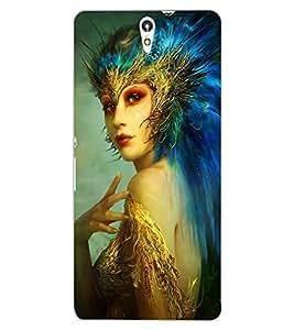 ColourCraft Fantasy Girl Design Back Case Cover for SONY XPERIA C5 E5553 / E5506