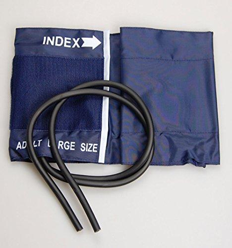 Valuemed Große Manschette für Blutdruckmessgerät/Sphygomanometer, Erwachsene, L, 2 Röhren, Edelstahl, Bündchen 34,3 zu 50,8 cm, Sortiment Manschette (Röhren-monitor)