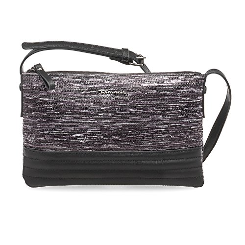 Tamaris Damen Carla Crossbody Bag S Umhängetasche, 1x17x27 cm Graphite Grau