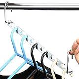 H&S 6 Stückmagische Wunderhaken für Kleiderbügel zur Ordnung und Organisation von Kleidung