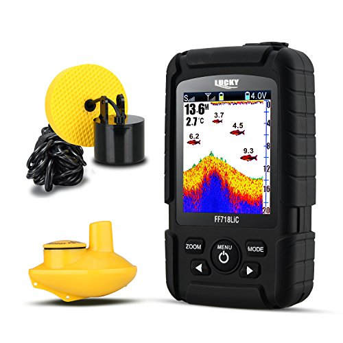 Lucky ff718lic 328 ft/100 m Tiefe Fishfinder Sonar Transducer 2-in-1 Wired & Wireless Sensor tragbar Wasserdicht Fisch-Finder