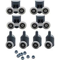 8pcs singola e doppia doccia rulli/Runners/Ruote diametro ruota superiore o inferiore 23mm