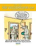 Wassermann 2019: Sternzeichenkalender-Cartoonkalender als Wandkalender im Format 19 x 24 cm.