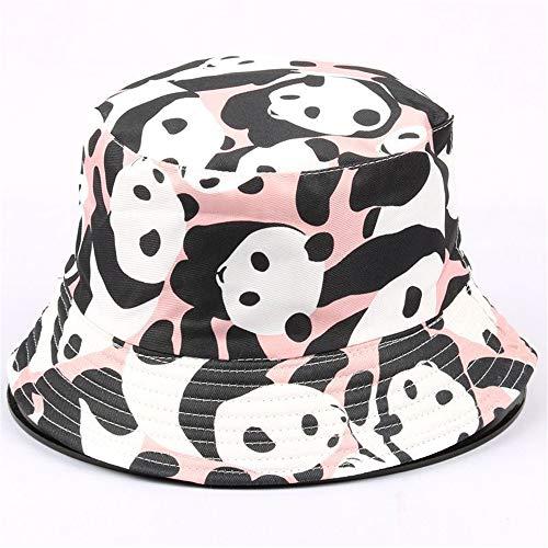 zhuzhuwen Cartoon-Muster doppelseitigen Fischerhut vielseitig niedlich kleine frische Becken Kappe Faltbare Hut weiblich 4 56-62cm