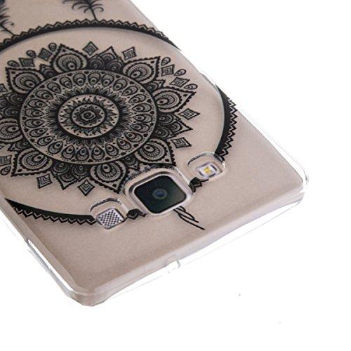 Ekakashop Transparente Flexible TPU Couqe pour Samsung Galaxy A5, Ultra Mince Doux Soft Silicone Protectrice Couverture Housse pour Galaxy A5 5.0 pouces, Motifs de Attrape Reve Cas Case Back Cover Def Campanula Plume