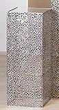 Säule Purley Metallant.silb.H.70cm 27x27cm