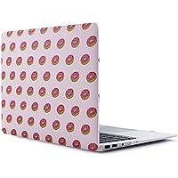 RENPHO Caja dura plástica del tacto suave para el aire de Macbook 13 pulgadas A1369 / A1466 Funda - Donuts