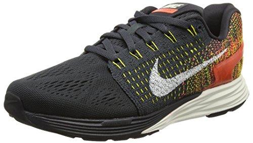 Nike Lunarglide 7, Scarpe da Corsa Donna Nero (noir (Anthrct/Sl-Tr Yllw-Hypr Orng 007))