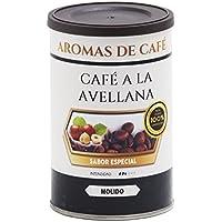 Aromas de Café - Café de Avellana 100% Arabica Molido/Café Molido Sabor Avellana Intensidad Media Suave e Intenso, 100 gr