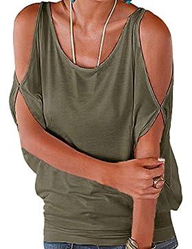 DianShao Camisas de Hombro Frío