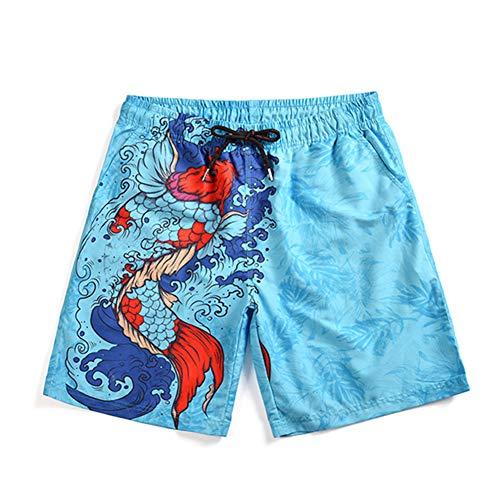 Nike Walking Shorts (3D Gedruckte Strandhosefür den Sommer, Morbuy Graffiti Print Strandarbeit Casual Shorts der Männer Strandhosen Graphics Beach Surfboard (XL,Koi))