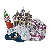 Baoblaze Resina 3D Atracciones Mundiales Imanes de Nevera Recuerdos Turísticos Regalos para Familiares - Venecia