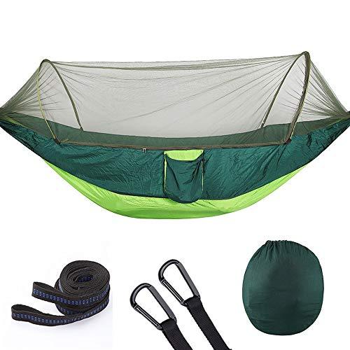 JesseBro76 Outdoor Travel Outdoor Camping Hängematte Ultra Light Swing Schlafen Hängebett Grün und grün 250x120CM