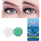 Soft Eye Blue-Grey Monthly Color Contact Lens (Zero Power, Blue-Grey)