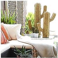 Figura de cactus de esparto natural