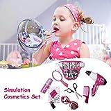 Cracklight Jouet de Maquillage, Rose Simulation Coiffure cosmétiques beauté Valise Toy Set Jeu de rôle pour Les Petites Filles Physical...
