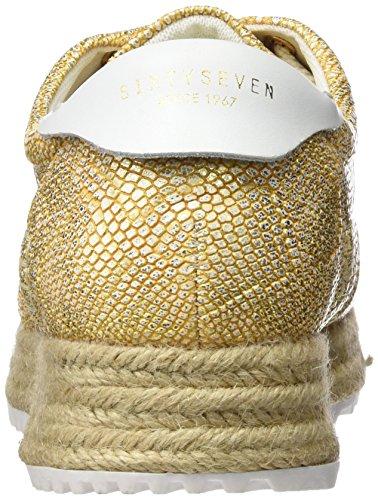 Sixty Seven 77953, Baskets Basses Femme Dorado (Merx oro/Blanco)