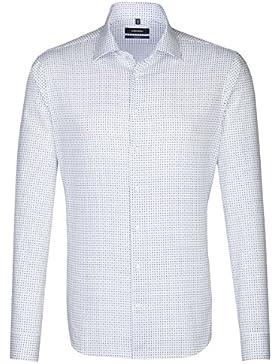 SEIDENSTICKER Herren Hemd Tailored 1/1-Arm Bügelleicht City-Hemd Kent-Kragen Kombimanschette weitenverstellbar