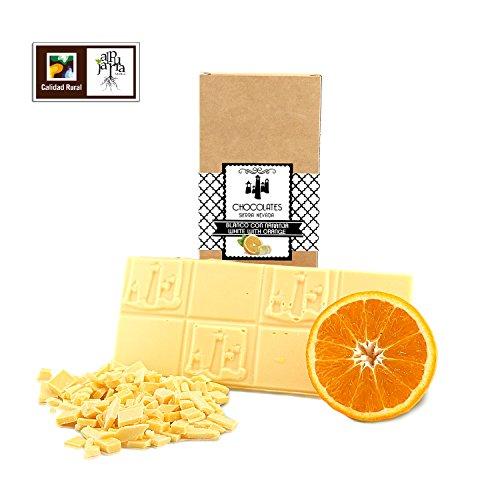 Chocolate blanco artesano con naranja