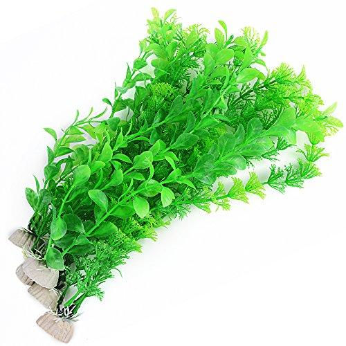 5 Stück Künstliche Wasserpflanzen Aquarienpflanzen Plastikpflanzen Kunststoff Pflanzen Wassergras Simulation Schöne Dekoration für Fish Tank Aquarium
