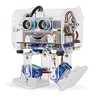 ELEGOO Robot Pingouin Dipode  est un  kit robotique basé sur Arduino  avec de nombreux talents intéressants et il supporte  les personnalisations de bricolage  en créant vos propres masques -programmer comme vous le souhaitez.    Les amateurs et les...