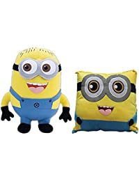 KAYKON Combo Of MInion Soft Toy And Minion Pillow Stuffed Plush For Kids/ Birthday Gift For Kids - 18 Inch/45 Cm