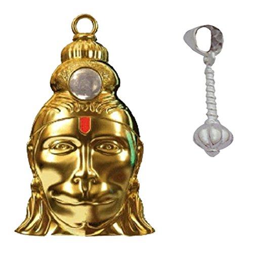 Divya Mantra Combo Of Shri Hanuman Chalisa Kavach Yantra Locket And Silver Gada Pendant  available at amazon for Rs.799