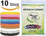 freedayy Mückenschutz-Armband (10 Stück) Anti Mücken-Armband mit 100% natürlichen Aromen für Kinder und Erwachsene
