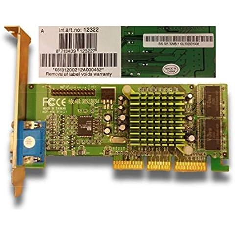 Scheda Grafica SiS 305 32MB AGP 2x