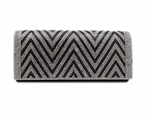 Hello Bag! , Damen Clutch Schwarz