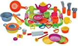 Gowi 454-49 Speiseservice Venedig, Küchenspielzeug, 52 teilig