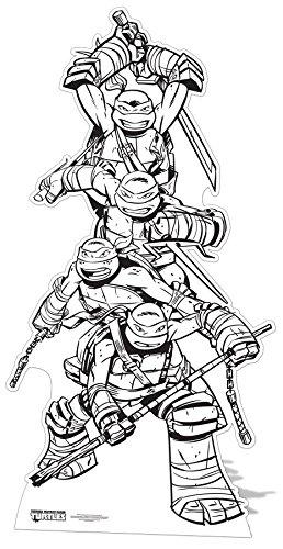 Star Cutouts–stscc8–Figur Riesen–Schildkröte Ninja–hat Malbuch 185x 96cm ()