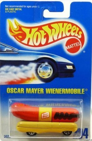 1993-hot-wheels-oscar-mayer-wienermobile-collector-no-204-164-scale-collectible-die-cast-car-by-matt