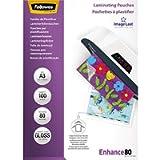 Fellowes 5306207 Pouches Lucide Enhance80, Formato A3, 80 Micron, Confezione da 100 Pezzi