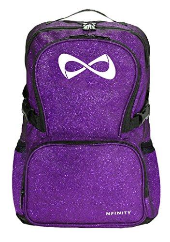 (Nfinity Sparkle Rucksack, Kinder Mädchen Damen Herren Unisex, violett)
