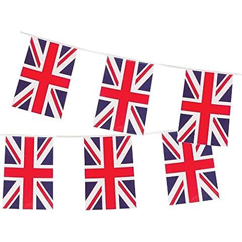 10m La Bandera del Reino Unido Garland Gran Bretaña. Union Jack banderines británico (red white