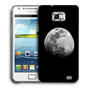 Snoogg Abstract Grey Moon Printed Protective Phone Back Case Cover For Samsung Galaxy S2 / S II