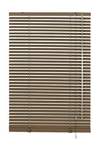 Gardinia veneziana in alluminio, visibilità, protezione dalla luce e ai raggi solari, fissaggio al muro e al plafone, kit di montaggio incluso, veneziana in alluminio, mocca, 40 x 175 cm (lxa)