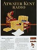 Atwater Kent Radio AD 1925. /Namerican Magazine Advertisement for The Atwater Kent Radio 1925. Kunstdruck (60,96 x 91,44 cm)