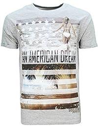 Hommes Manche Courte Hawaii Américain Couleur Chair Plage Slim Fit T-shirts Par Soul Star