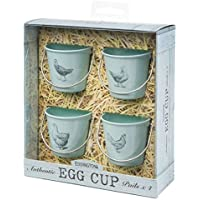 Eddingtons Egg Cup Buckets - Vintage Pale Bue - Set Of 4 Chicken (Pack of 2)